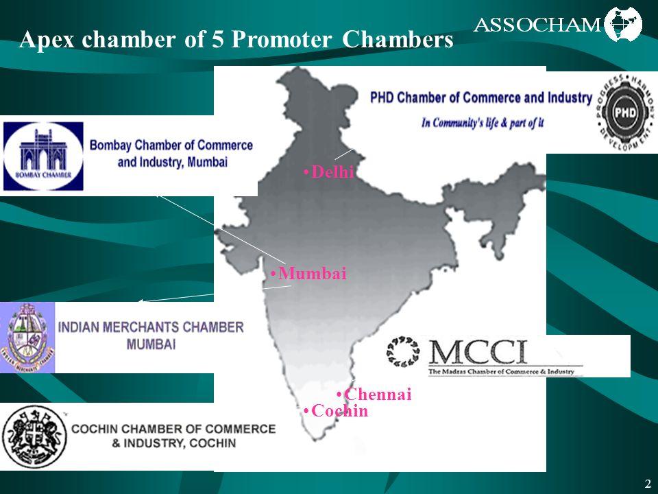 2 Delhi Chennai Cochin Mumbai Apex chamber of 5 Promoter Chambers