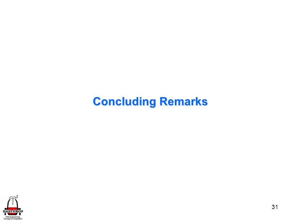 31 Concluding Remarks