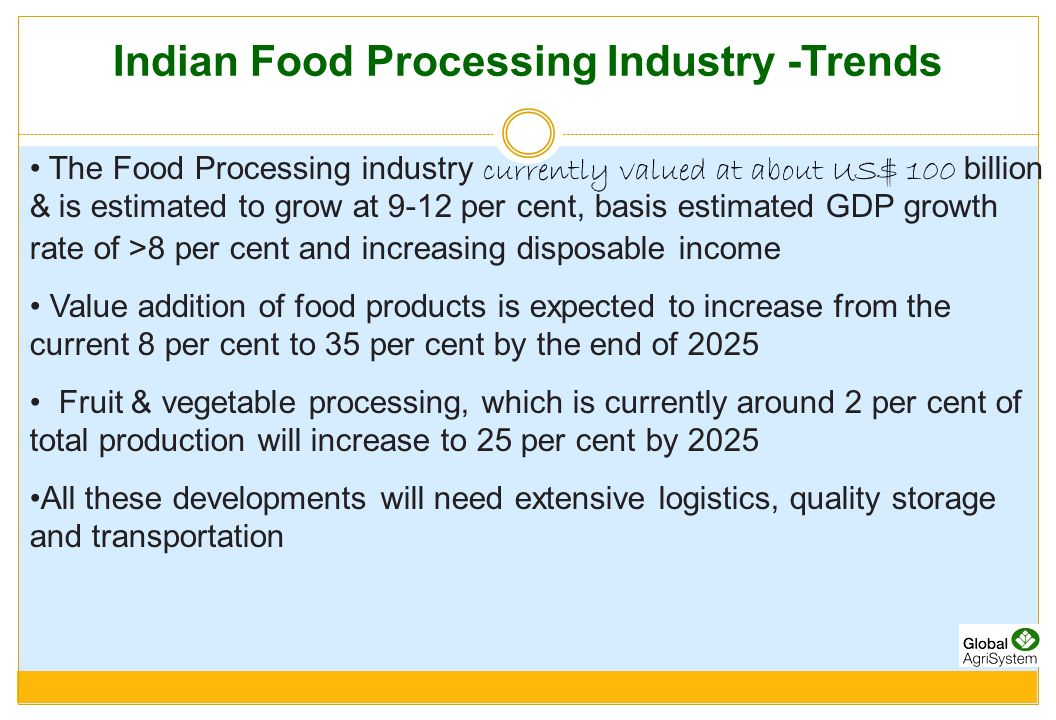 Value Added Services - Cold Chain About 10-15% of food passes through cold chain and segment is growing at 15-20% annually Main products are: Dairy Products (ice cream, butter, cheese, paneer); Fresh and Frozen F&V; Meat & Poultry; Fish & Marine products; Confectionary and Chocolates Opportunities for primary and secondary distribution.