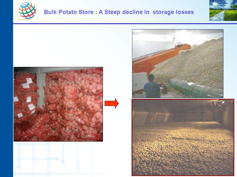 Bulk Potato Store : A Steep decline in storage losses