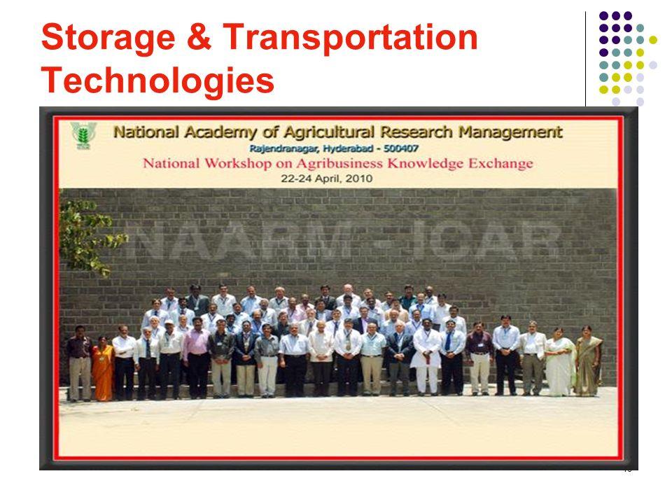 18 Storage & Transportation Technologies