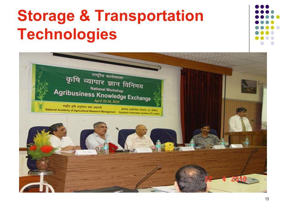 19 Storage & Transportation Technologies