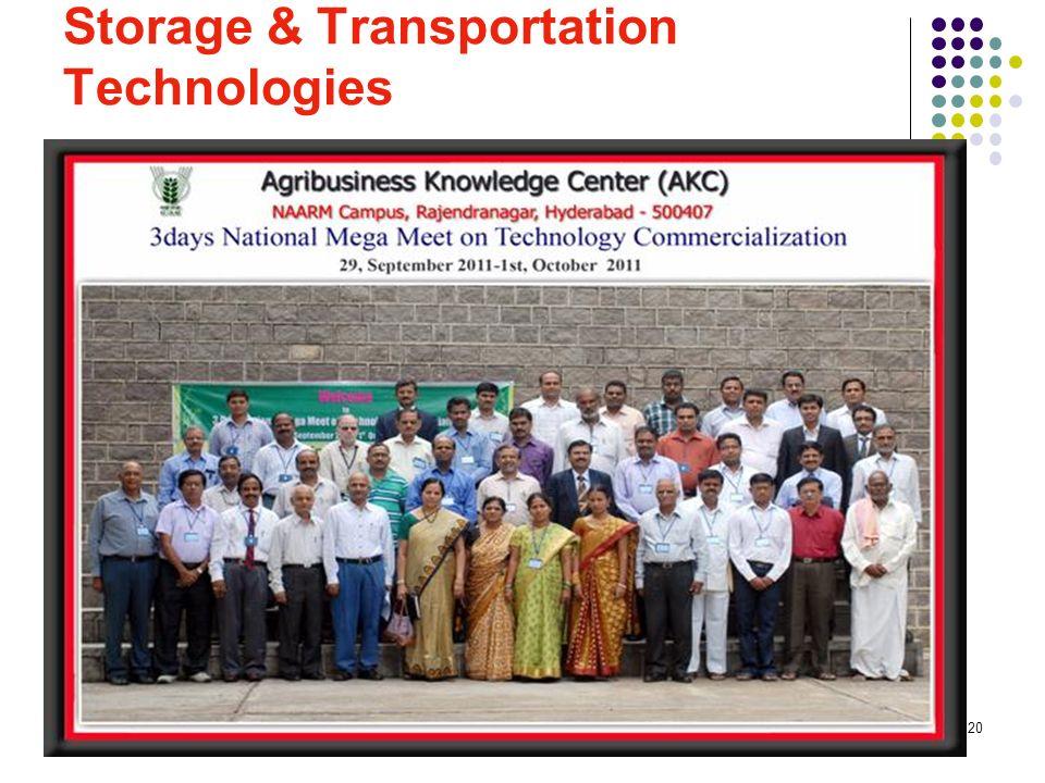 20 Storage & Transportation Technologies