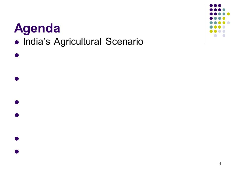25 Agenda Indias Agricultural Scenario Linking Unorganized to Organized – Indian Success Case Story Issues in Replicating ANAND Success Case Story to Agriculture Storage & Transportation Technologies Indian Centric Challenges & Suggested Solution Models Track & Trace Technologies & GISPL Pilots Way Forward