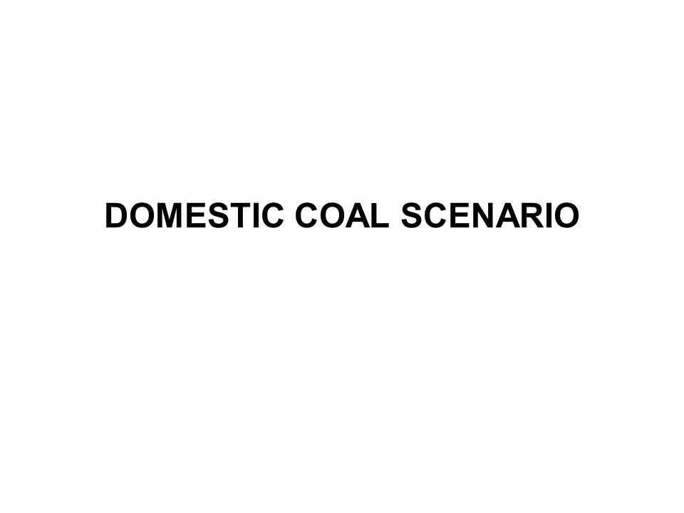 DOMESTIC COAL SCENARIO