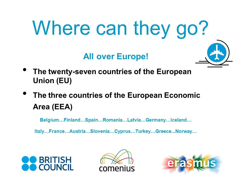 All over Europe! The twenty-seven countries of the European Union (EU) The three countries of the European Economic Area (EEA) Belgium…Finland…Spain…R