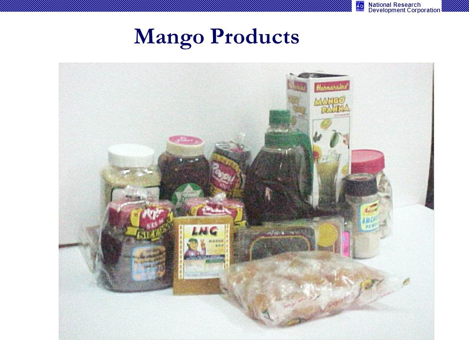 National Research Development Corporation Mango Products
