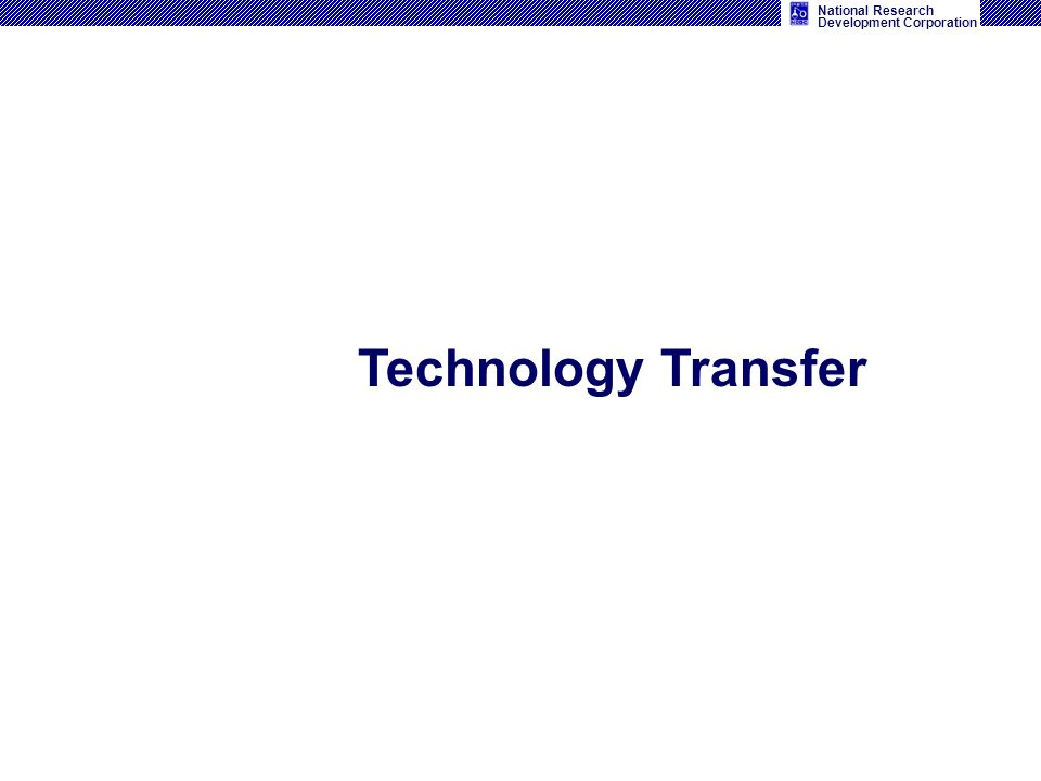 National Research Development Corporation Technology Transfer