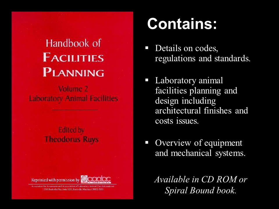 Contains: Details on codes, regulations and standards.