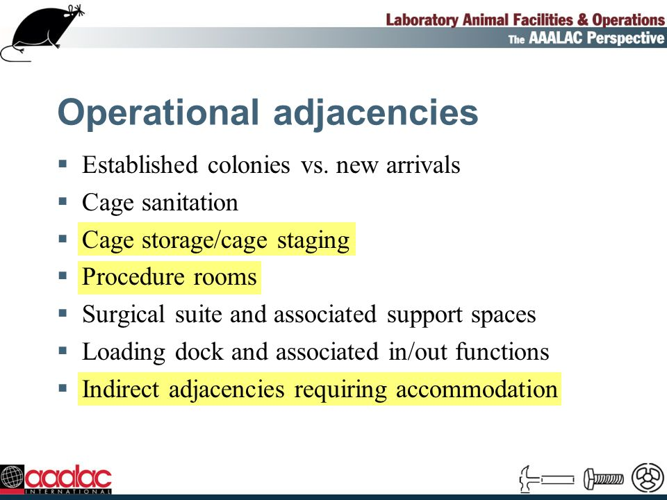 Operational adjacencies Established colonies vs.