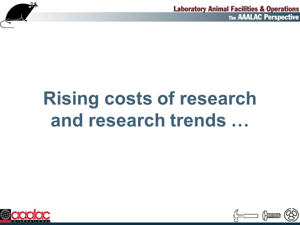 Rapidly increasing R&D costs