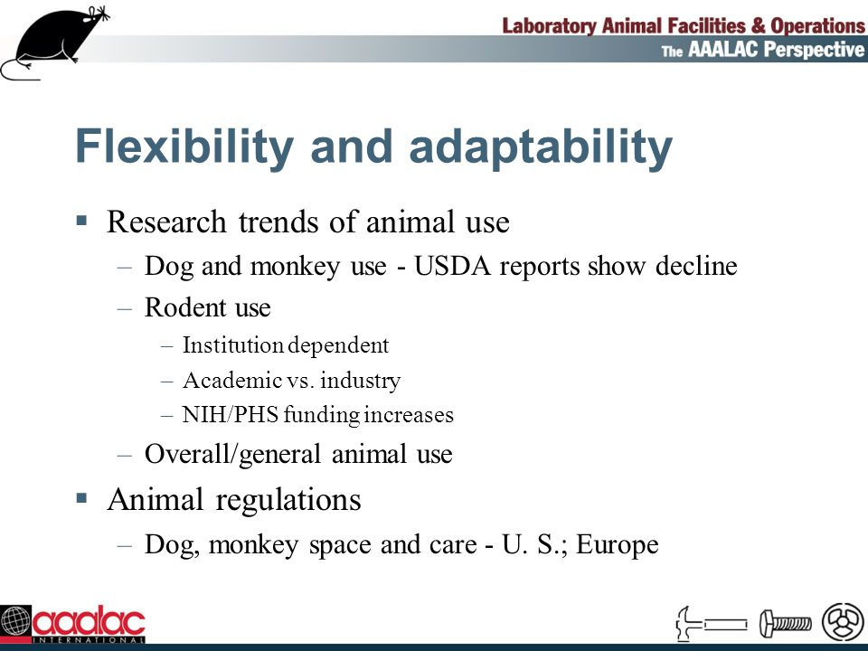 Flexibility and adaptability (Contd) Future –Regulation of rats, mice, birds - space.