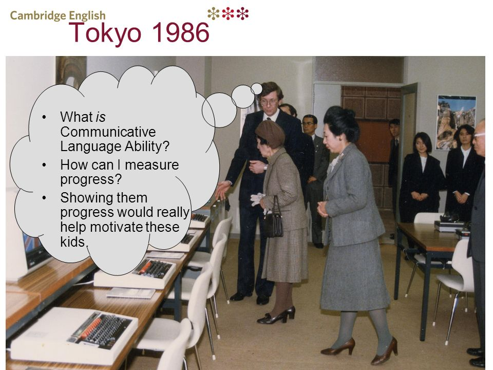 Tokyo 1986 What is Communicative Language Ability? How can I measure progress? Showing them progress would really help motivate these kids.