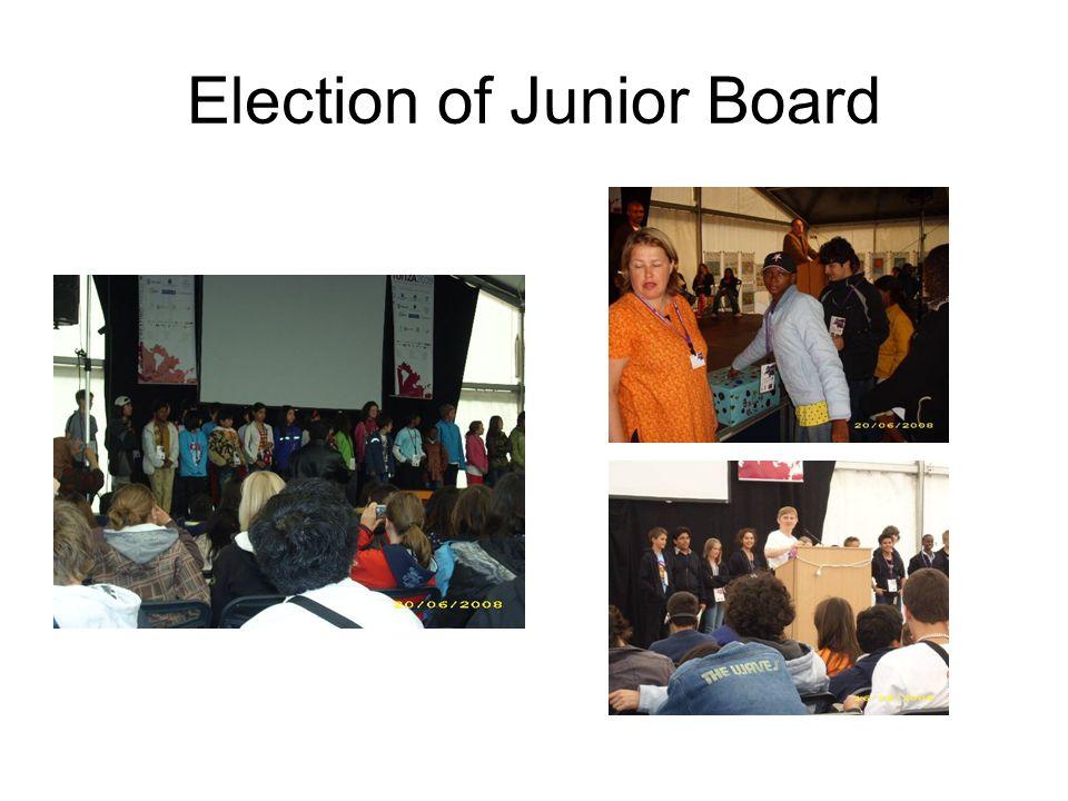 Election of Junior Board