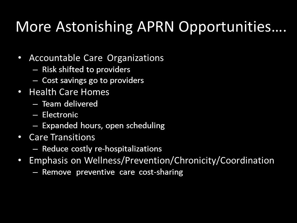 More Astonishing APRN Opportunities….