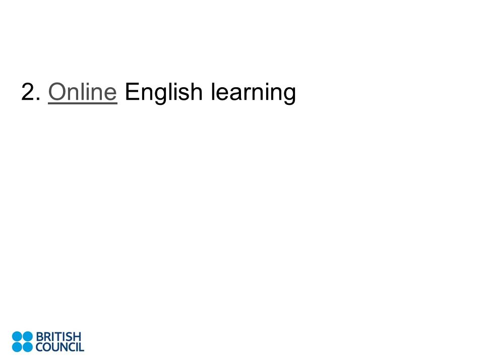2. Online English learningOnline