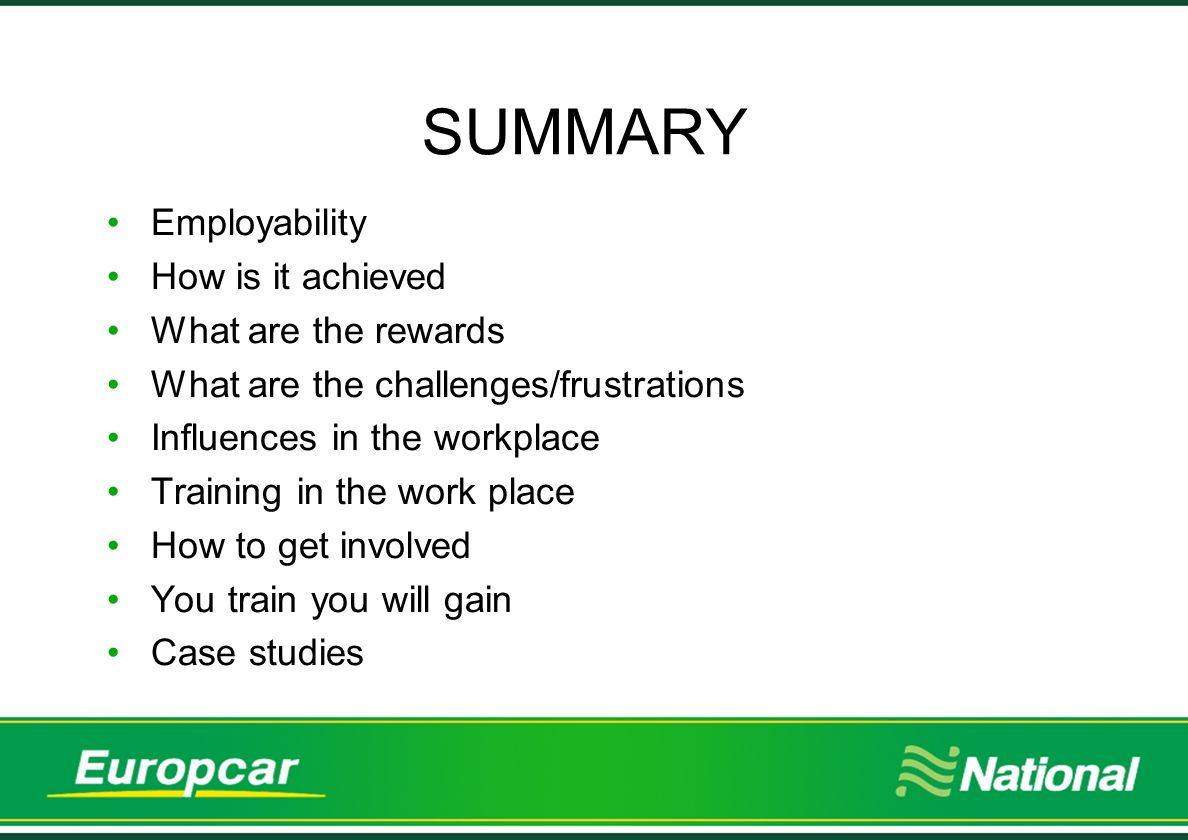 Successes - case studies 3 National Europcar engage with New College Durham at all levels, from curriculum development,re- validation, review, placements, guest lecturing and student recruitment.