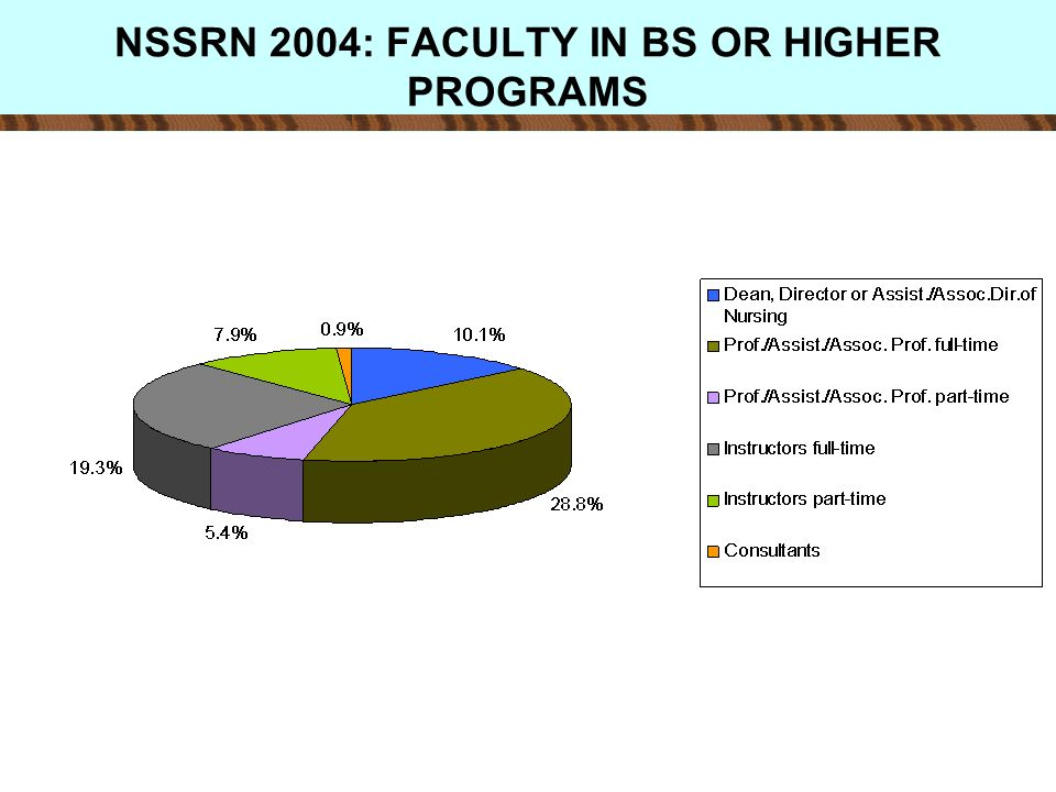 NSSRN 2004: FACULTY IN BS OR HIGHER PROGRAMS