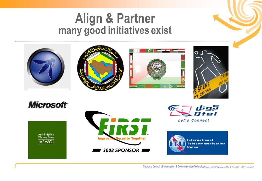 14 Align & Partner many good initiatives exist