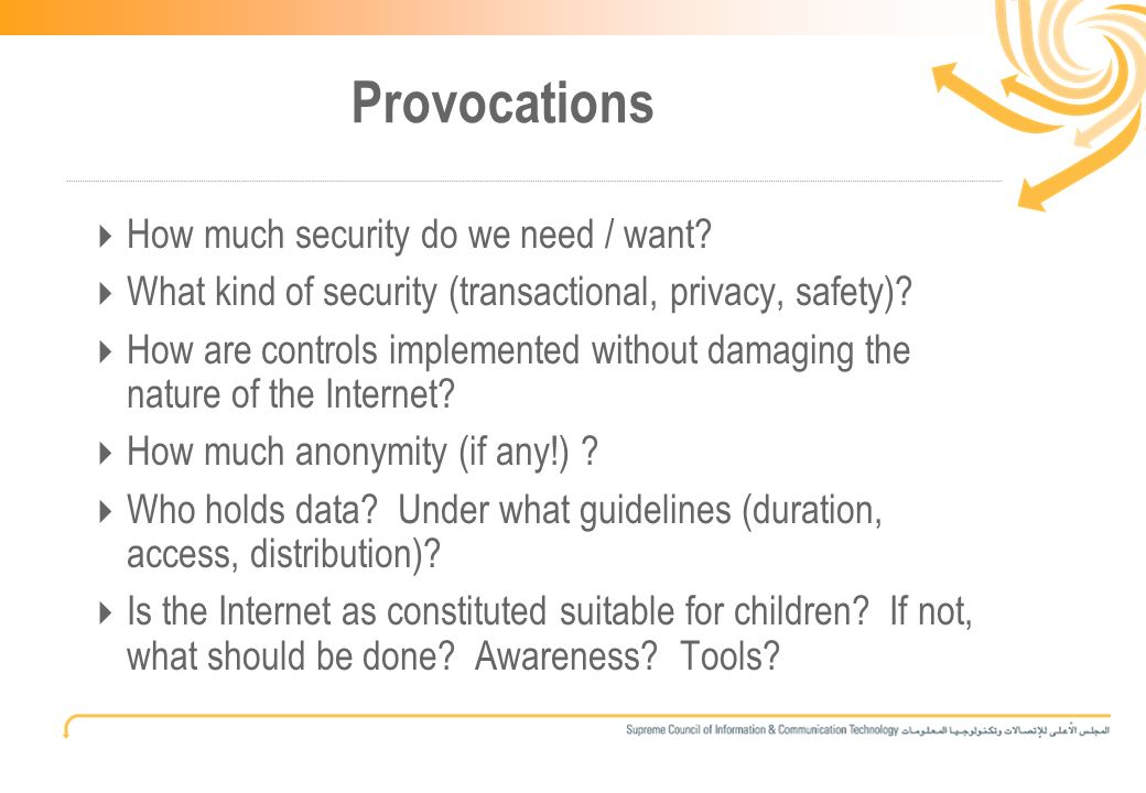 15 Provocations How much security do we need / want.