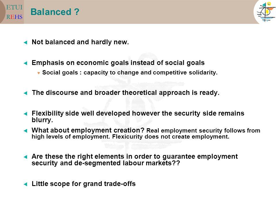 Balanced . Not balanced and hardly new.