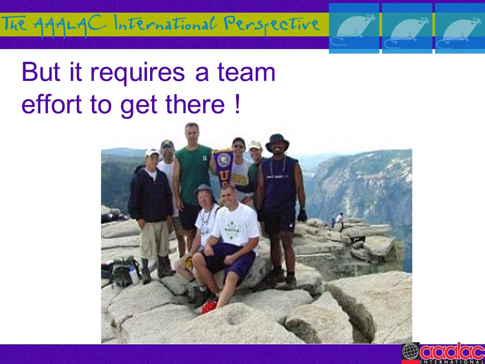 But it requires a team effort to get there !