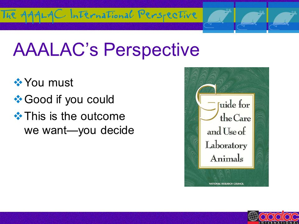 AAALACs Perspective You must Good if you could This is the outcome we wantyou decide