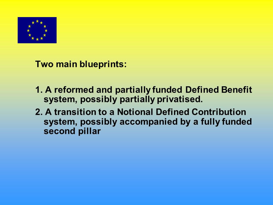 Two main blueprints: 1.