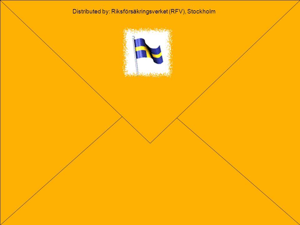 O. Settergren 2004 The end Distributed by: Riksförsäkringsverket (RFV), Stockholm