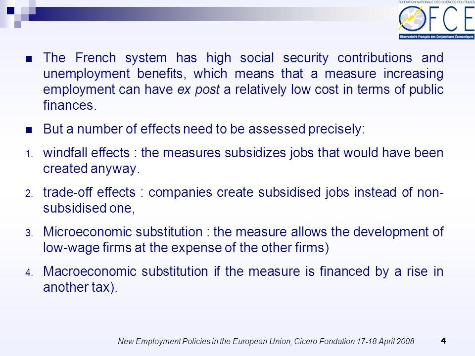 New Employment Policies in the European Union, Cicero Fondation 17-18 April 2008 35 Gafsi et al.