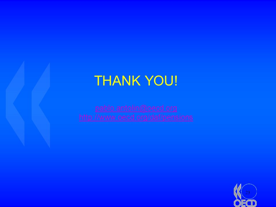 23 THANK YOU! pablo.antolin@oecd.org http://www.oecd.org/daf/pensions pablo.antolin@oecd.org http://www.oecd.org/daf/pensions