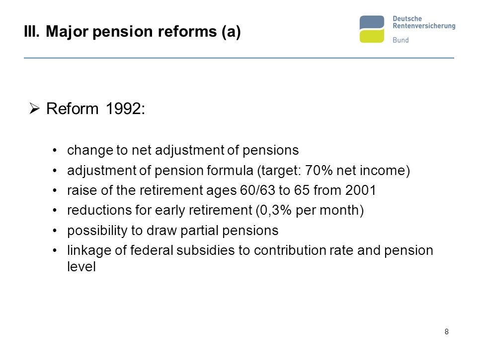19 IV.Pension reforms: Trends in 2. and 3. pillar more and more 2.