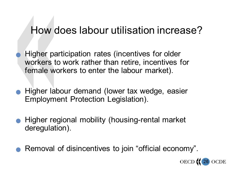 26 How does labour utilisation increase.