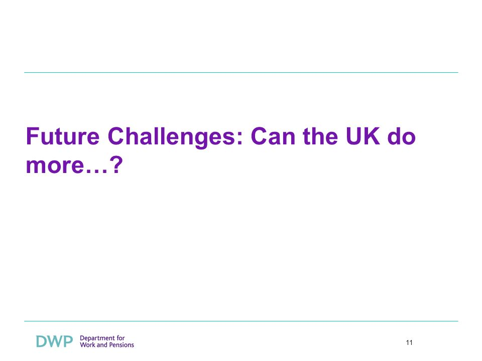 11 Future Challenges: Can the UK do more…