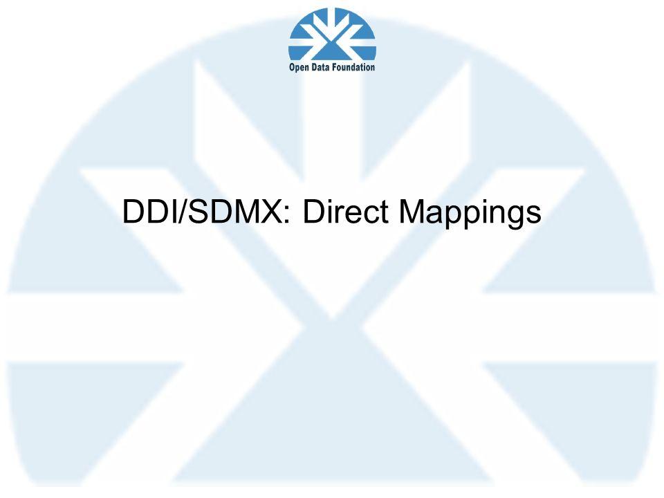 DDI/SDMX: Direct Mappings
