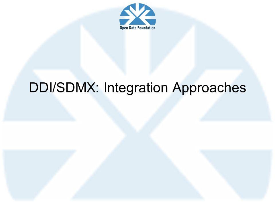 DDI/SDMX: Integration Approaches