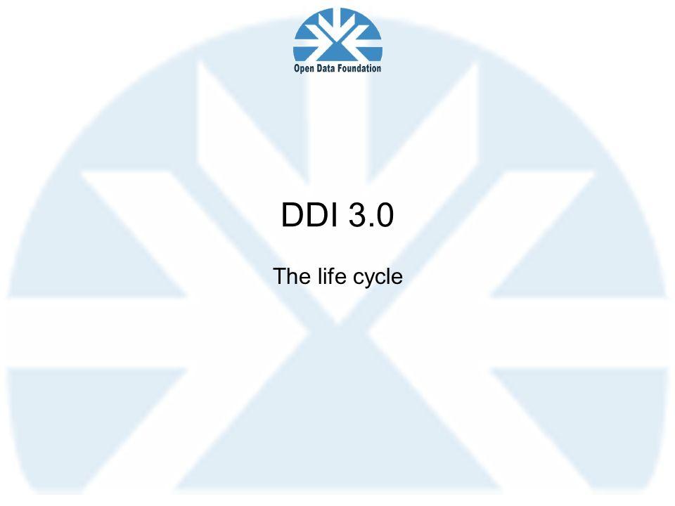 DDI 3.0 The life cycle