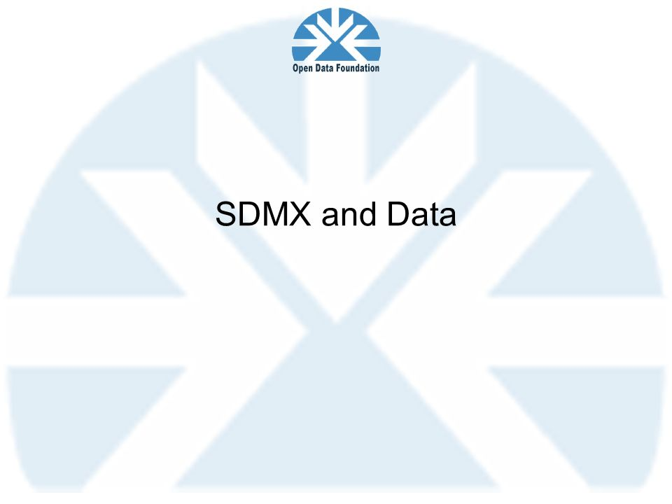 SDMX and Data