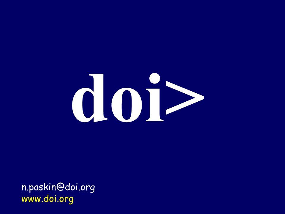 doi> n.paskin@doi.org www.doi.org