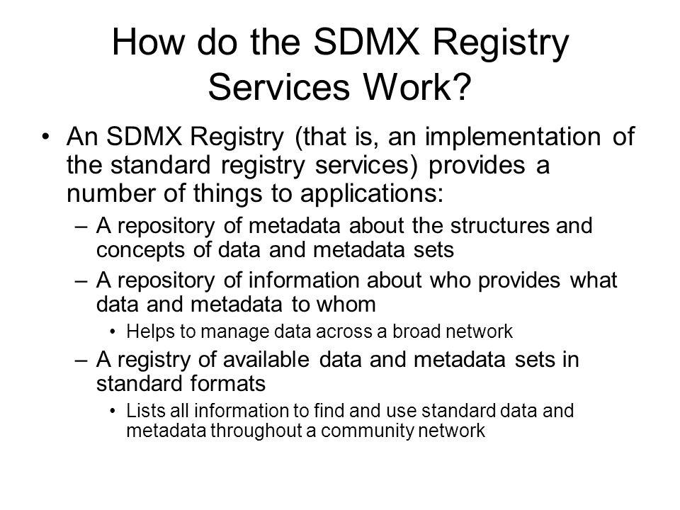 How do the SDMX Registry Services Work.