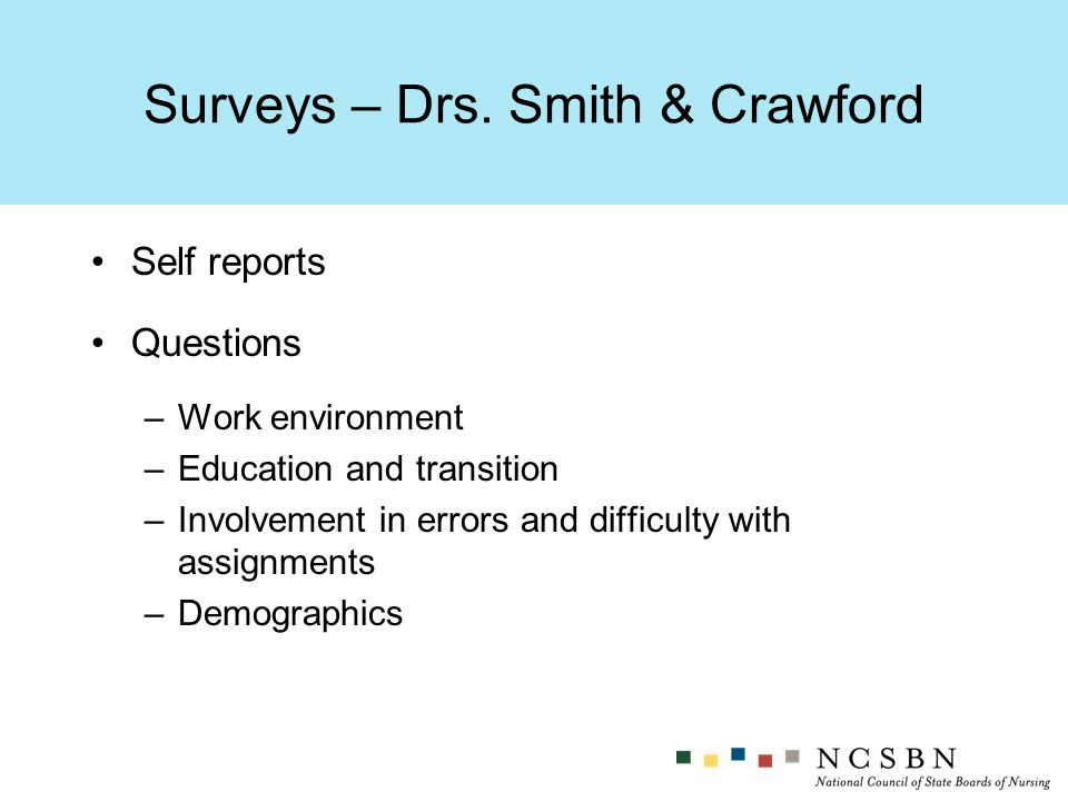 Surveys – Drs.
