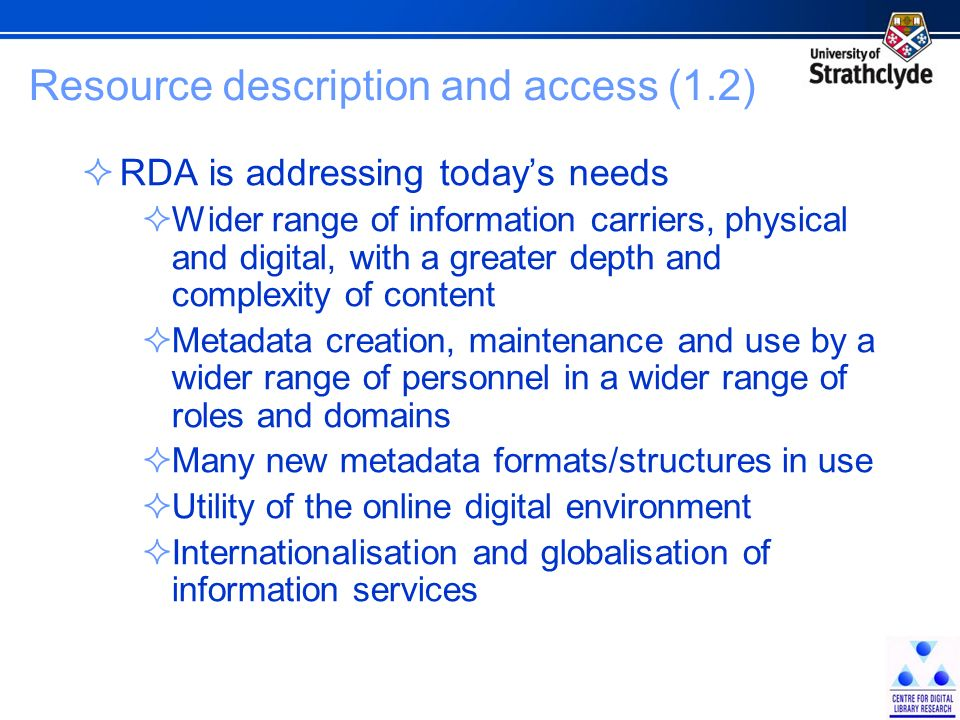 Identifying the future The DOI model shares the same underlying ontology approach as the RDA/ONIX framework A funding bid, supported by IDF, has been submitted to the UKs Joint Information Systems Committee/Publishers and Library/Learning Solutions (JISC/PALS) partnership, to extend the framework by: Creating a comprehensive vocabulary of resource relators and categories, to provide: A mapping to support metadata crosswalks and transformations A definitive reference set to support further standards work