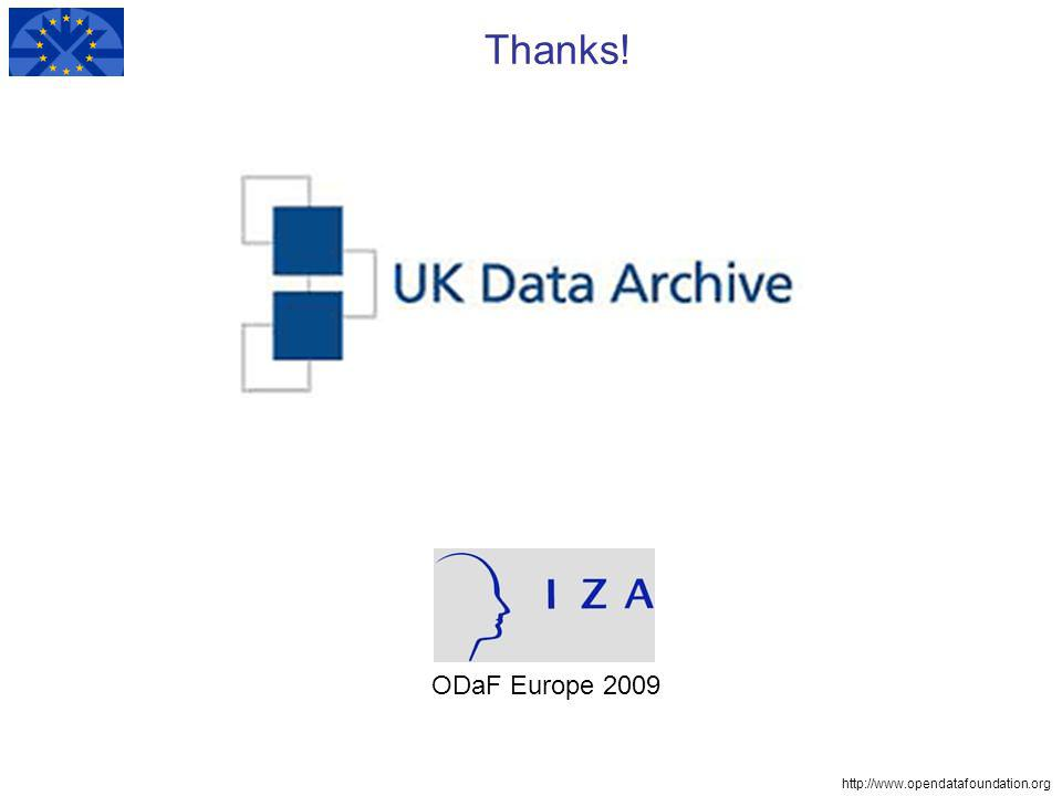 Thanks! ODaF Europe 2009