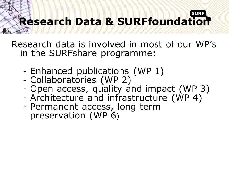 4 Research - The SURFshare programme 2007-2011