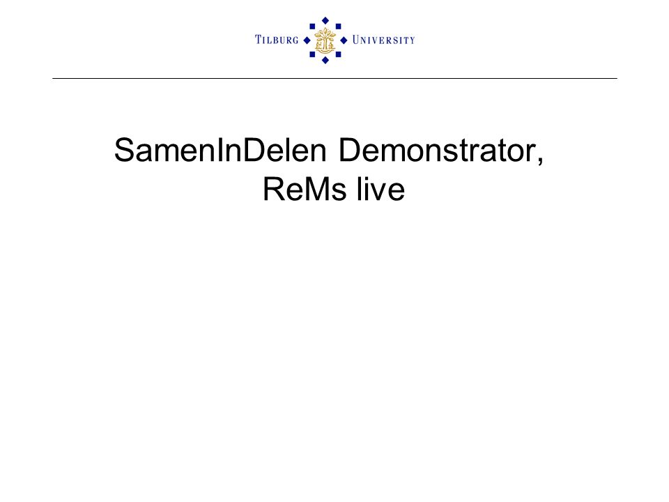 SamenInDelen Demonstrator, ReMs live