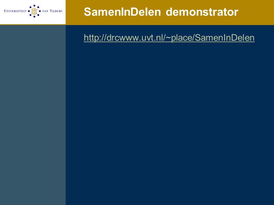 SamenInDelen demonstrator http://drcwww.uvt.nl/~place/SamenInDelen