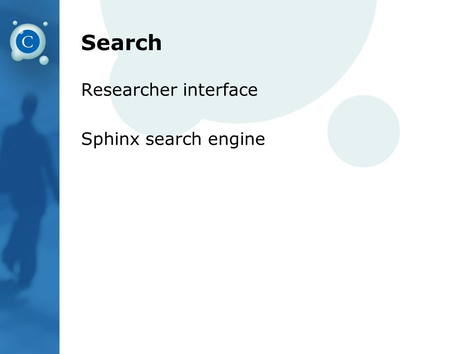 Search Researcher interface Sphinx search engine