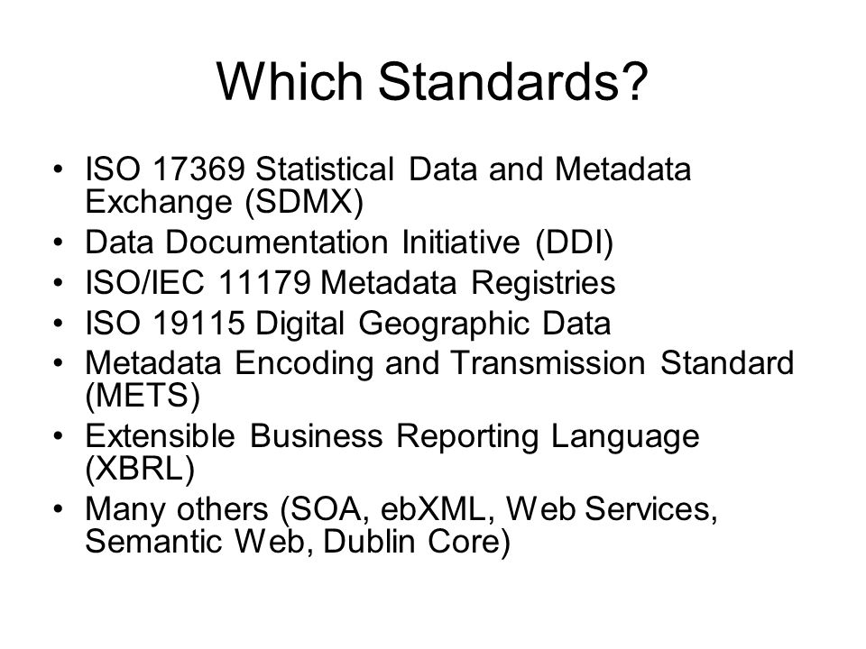 Which Standards.