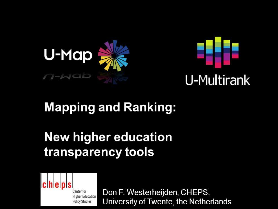 U-Multirank Pretest Three instruments Institutional questionnaire Departmental questionnaire Student questionnaire
