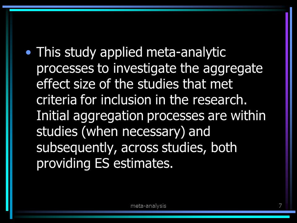 meta-analysis28 The Tyranny of P Values Cohen (1994) argued that the results of statistical significance tests (i.e., the test statistic and associated p value) are not valid indicators of study findings, primarily because they are largely determined by the sample size of the study.